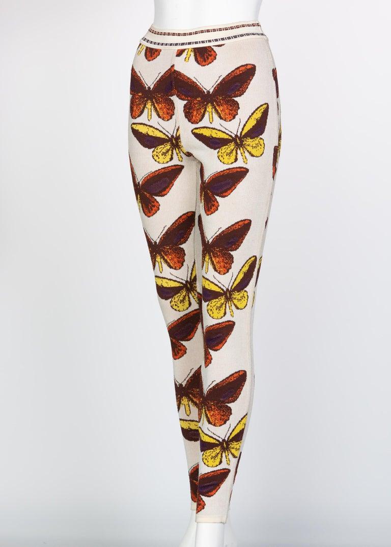 Women's Azzedine Alaia Iconic Runway Butterfly Leggings, 1991 For Sale