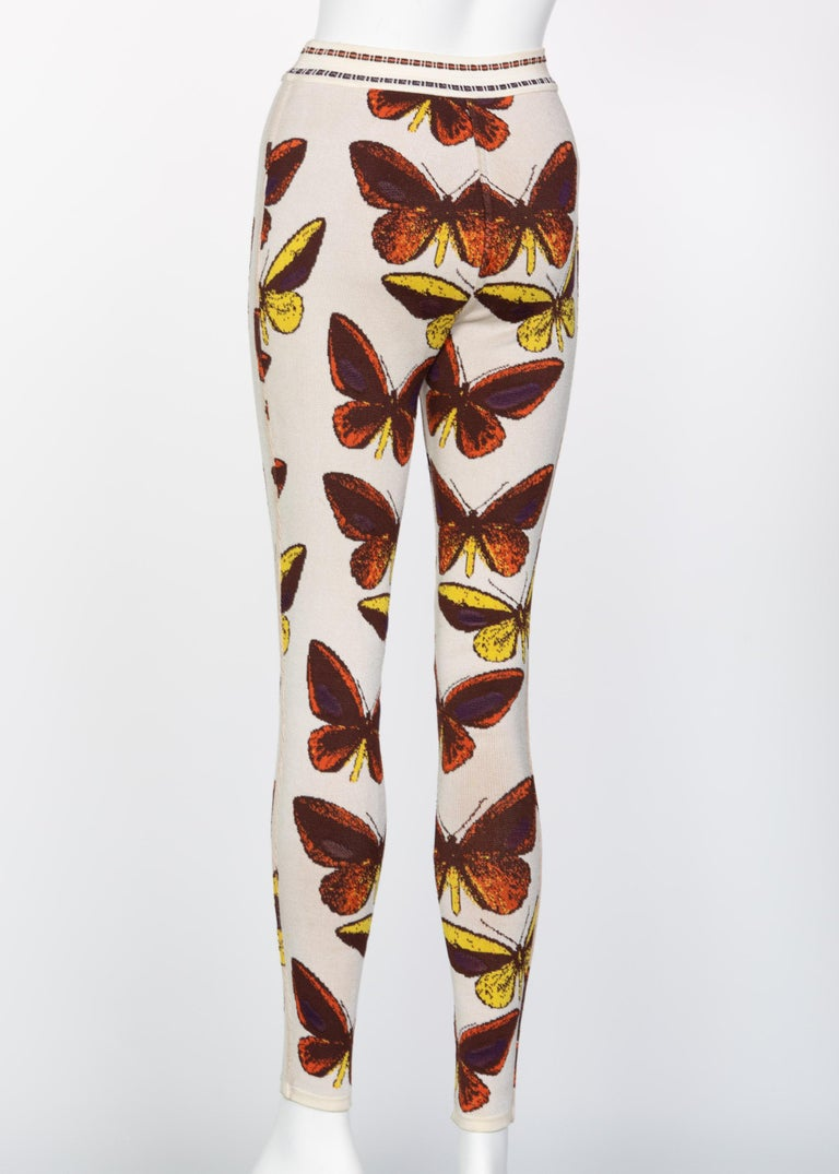 Azzedine Alaia Iconic Runway Butterfly Leggings, 1991 For Sale 1