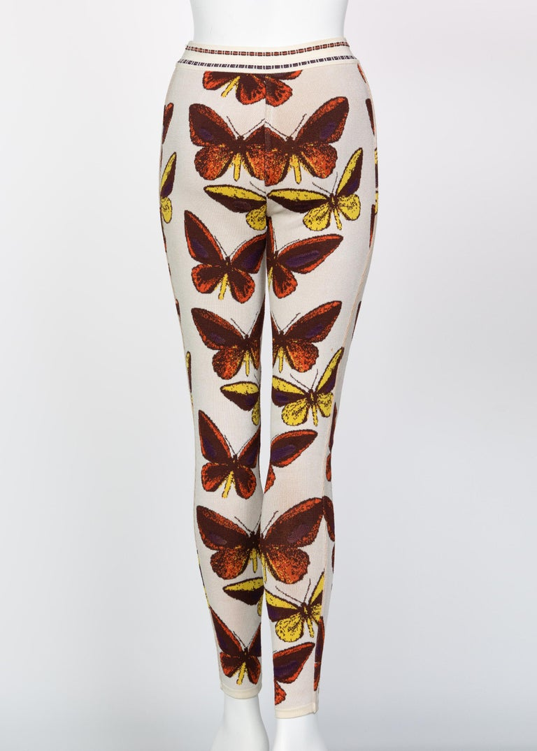 Azzedine Alaia Iconic Runway Butterfly Leggings, 1991 For Sale 2