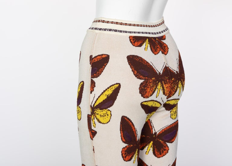 Azzedine Alaia Iconic Runway Butterfly Leggings, 1991 For Sale 3