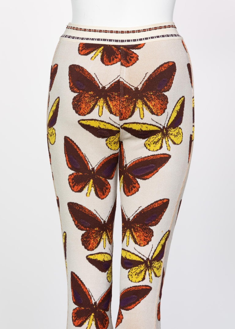 Azzedine Alaia Iconic Runway Butterfly Leggings, 1991 For Sale 4