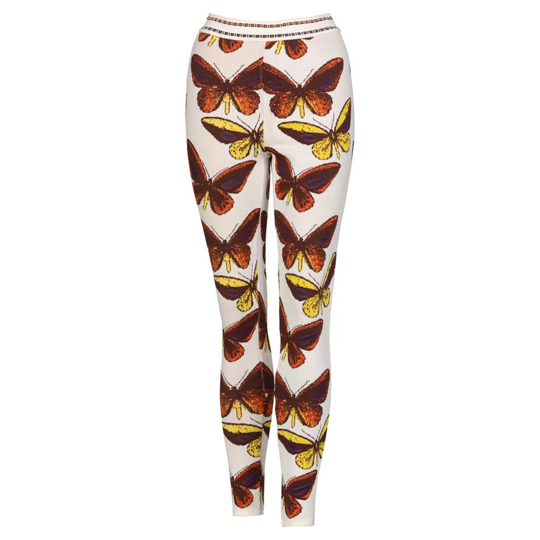 Azzedine Alaia Iconic Runway Butterfly Leggings, 1991 For Sale