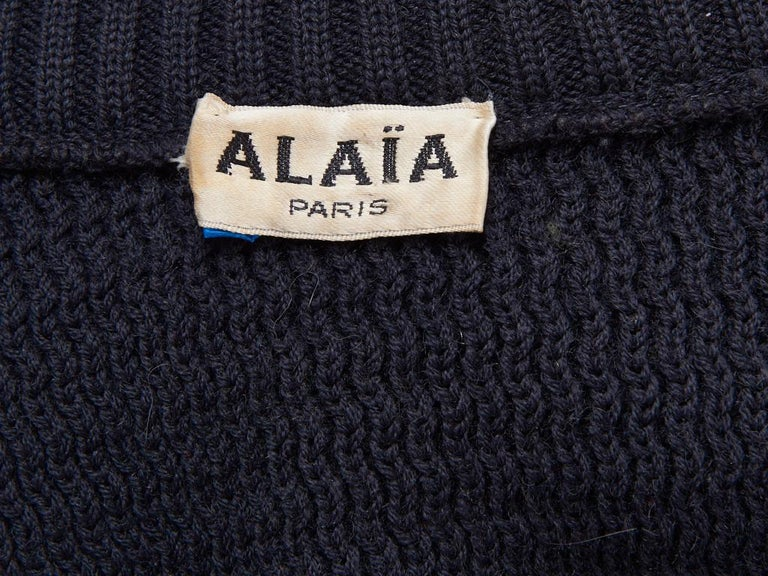 Women's Azzedine Alaia Knit Blouson with Zipper Detail For Sale