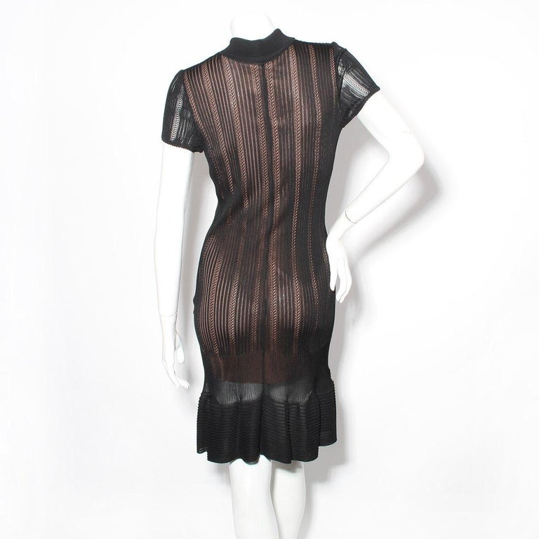 Azzedine Alaia Knit Polo Dress In Good Condition For Sale In Los Angeles, CA