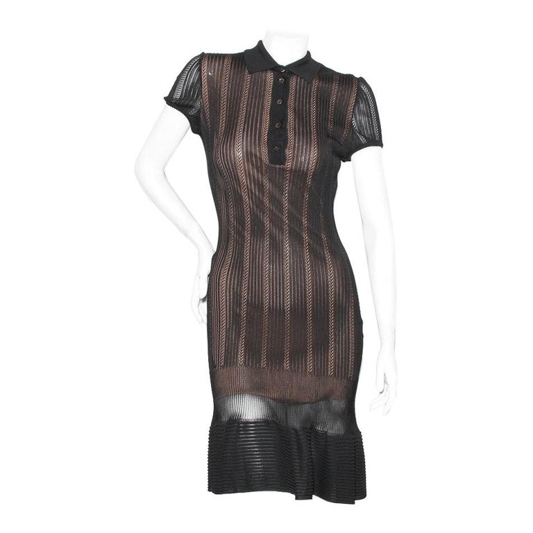 Azzedine Alaia Knit Polo Dress For Sale