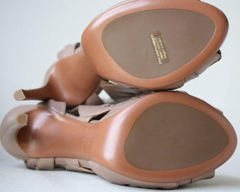 Women's Azzedine Alaïa Lace-Up Leather Sandals  For Sale