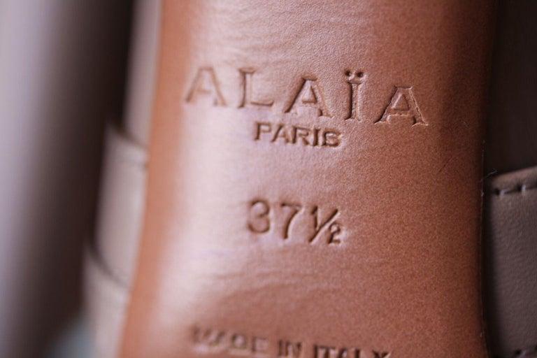 Azzedine Alaïa Lace-Up Leather Sandals  For Sale 1