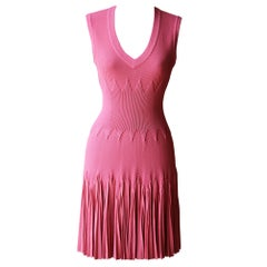 Azzedine Alaïa Lamia Honeycomb Textured Pleated Mini Dress