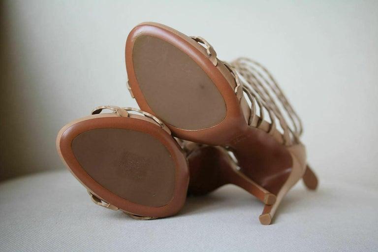 Azzedine Alaïa Laser-Cut Leather Sandals  For Sale 1