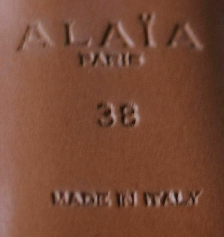 Azzedine Alaïa Laser-Cut Leather Sandals  For Sale 2