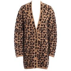 Azzedine Alaia leopard print knit jersey cardigan, fw 1991