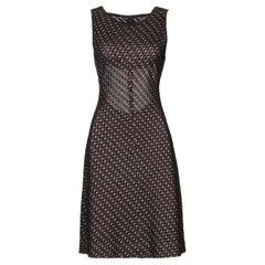 Azzedine Alaïa Metallic Jacquard Knit Mini Dress