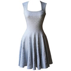Azzedine Alaïa Metallic Jacquard-Knit Mini Dress