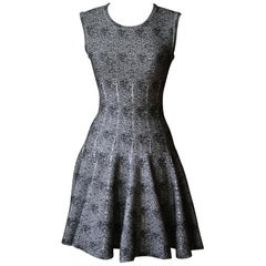 Azzedine Alaïa Mouchette Spot-Print Sleeveless Dress