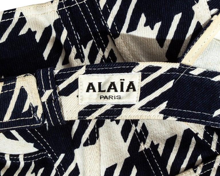 Azzedine Alaia navy blue houndstooth 'Tati' corset, ss 1991 For Sale 4