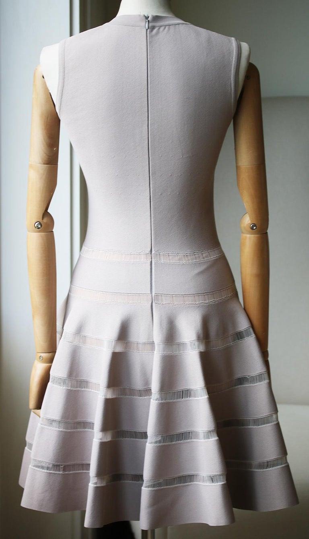 Gray Azzedine Alaïa Paneled Stretch-Knit Mini Dress For Sale