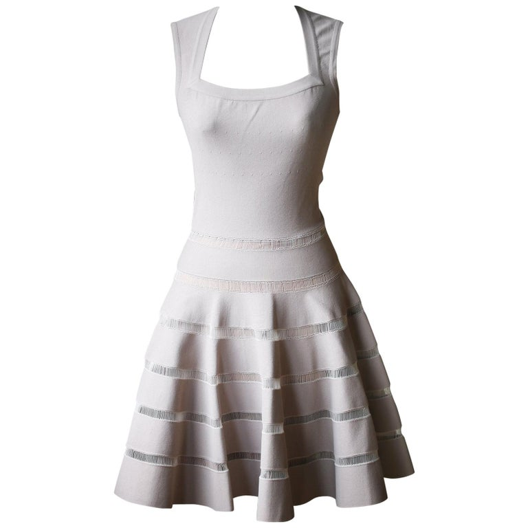 Azzedine Alaïa Paneled Stretch-Knit Mini Dress For Sale