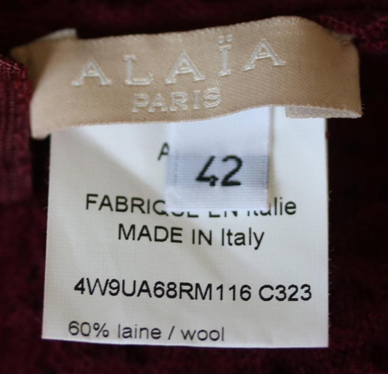 Azzedine Alaïa Pois Luxe Wool-Blend Top and Skirt  In Excellent Condition For Sale In London, GB