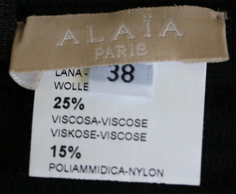 Azzedine Alaïa Pois Luxe Wool-Blend Top In Excellent Condition For Sale In London, GB