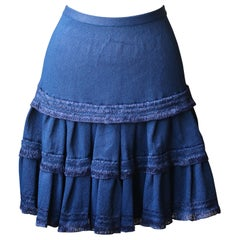 Azzedine Alaïa Raffia Stretch Knit Mini Skirt