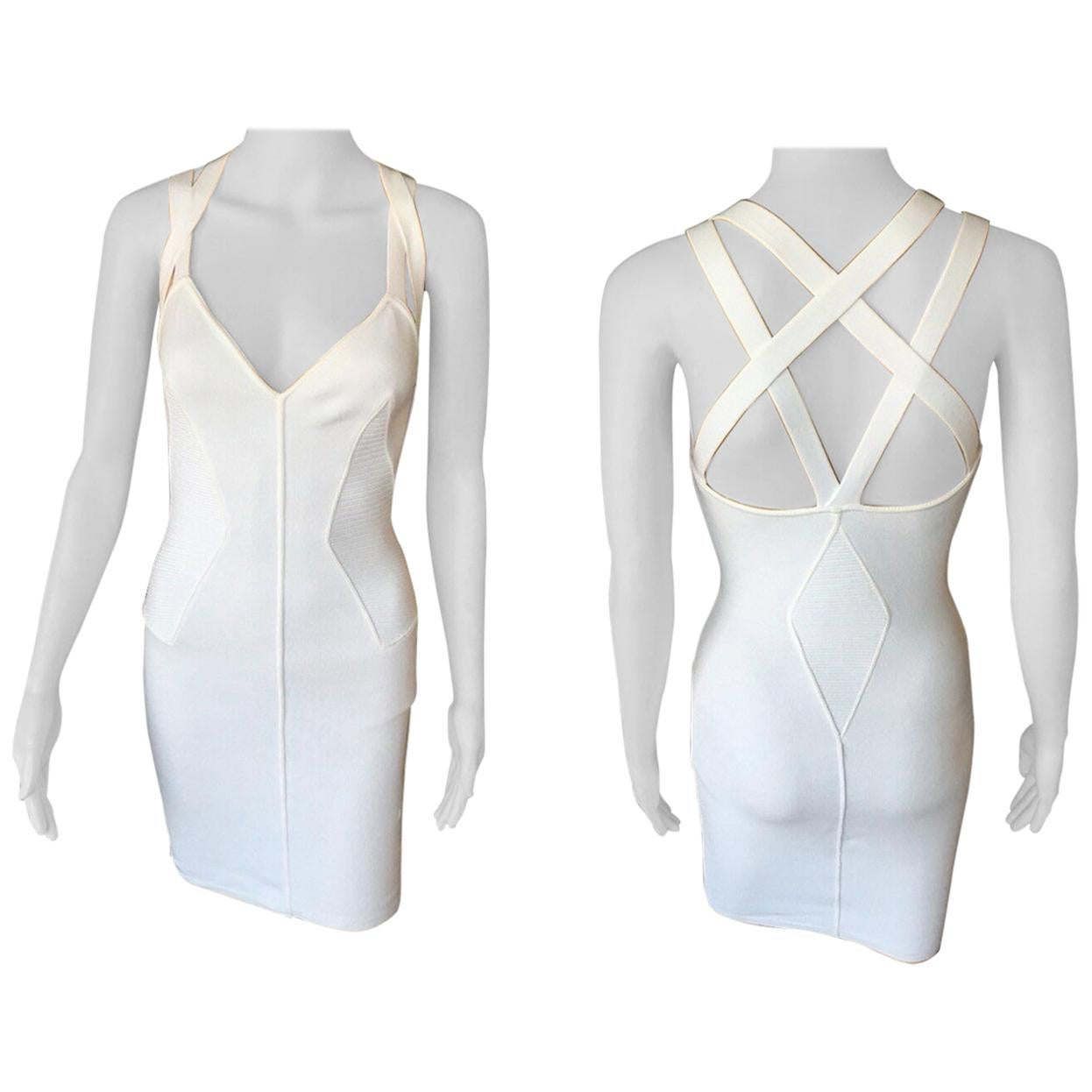 Azzedine Alaia S/S 1990 Vintage Fitted White Dress