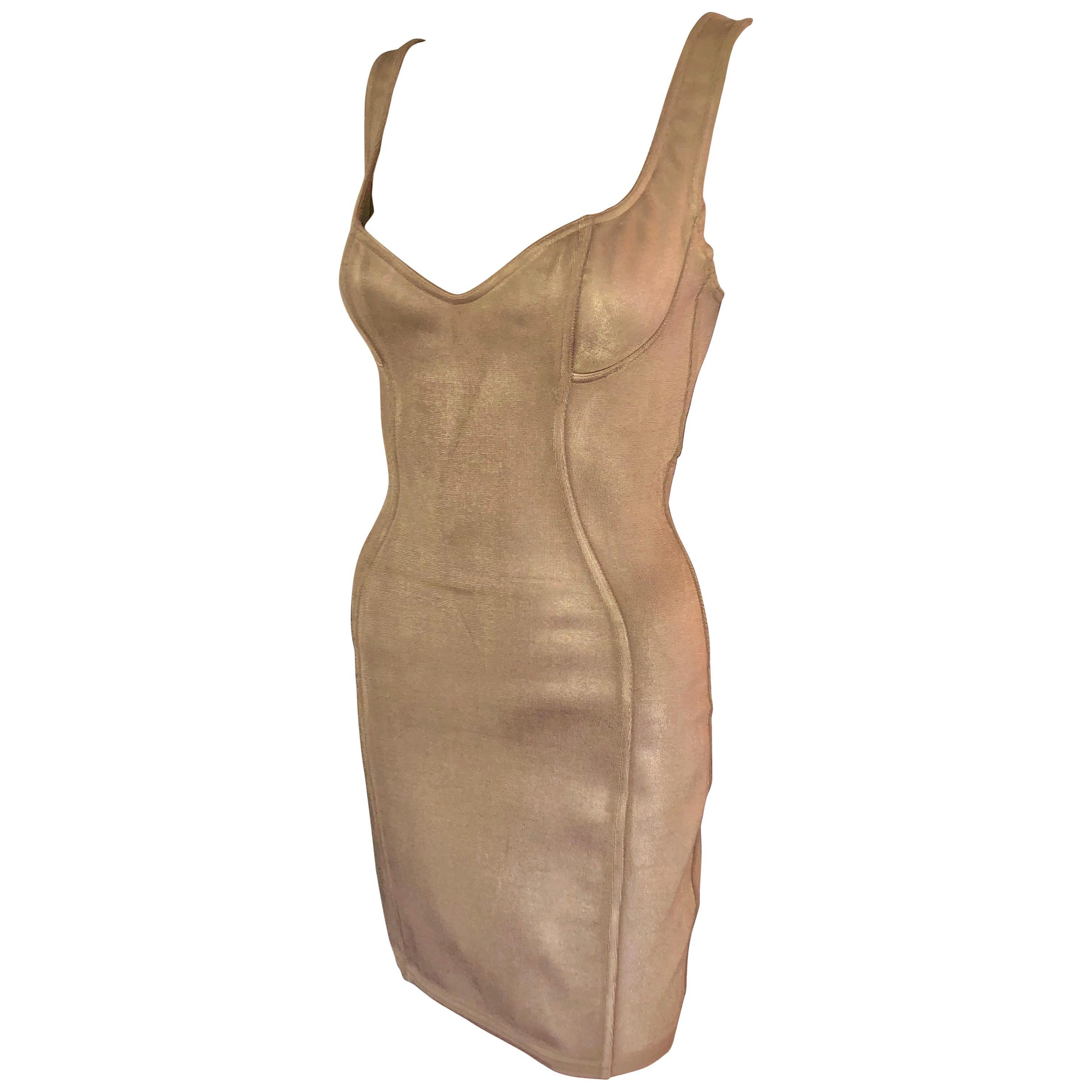 Azzedine Alaia S/S 1991 Vintage Bustier Bodycon Mini Dress