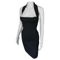 Azzedine Alaia S/S 1992 Vintage Bustier Open Back Dress