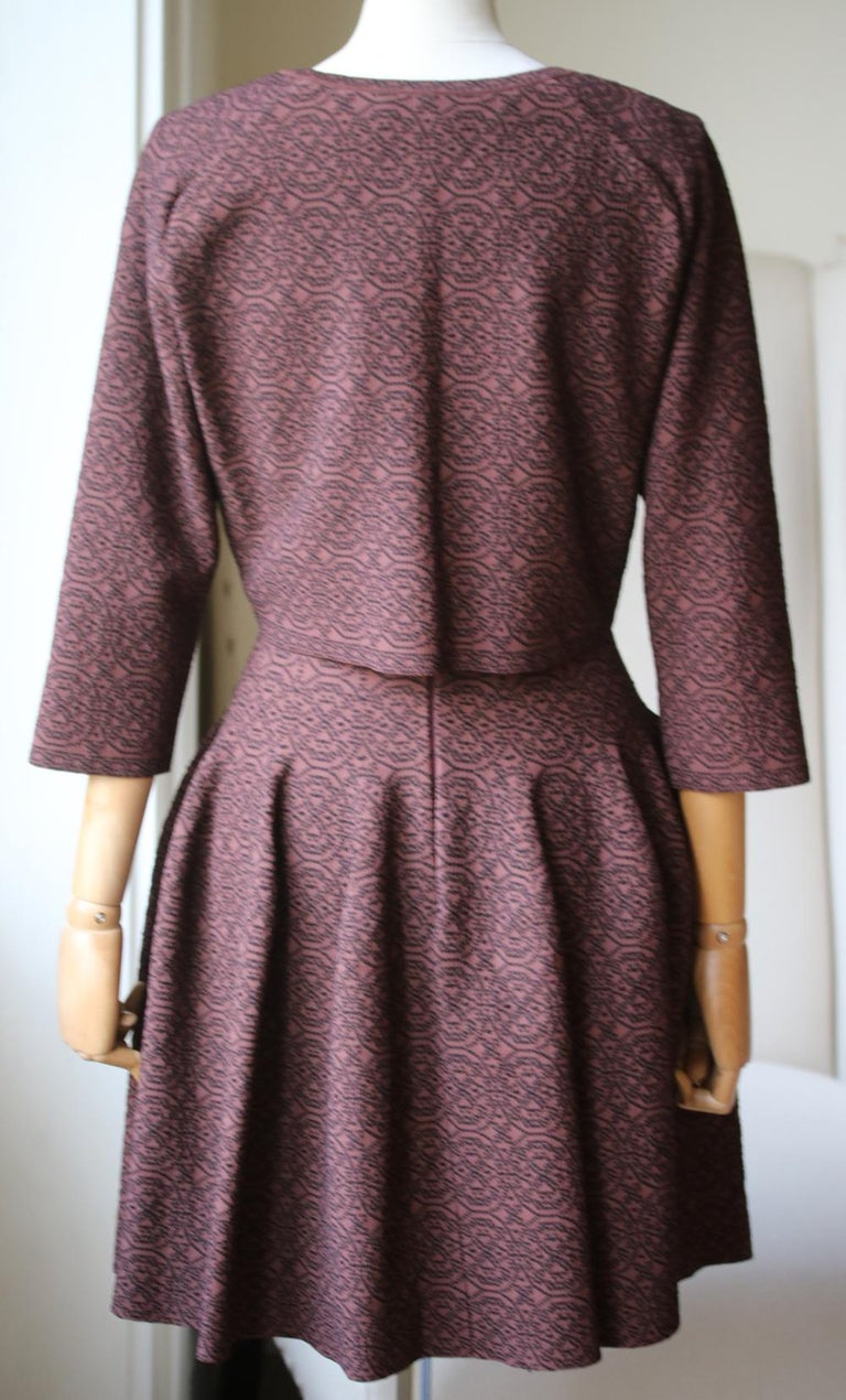 Azzedine Alaïa Stretch-Knit Flare Mini Dress and Cardigan In Excellent Condition For Sale In London, GB