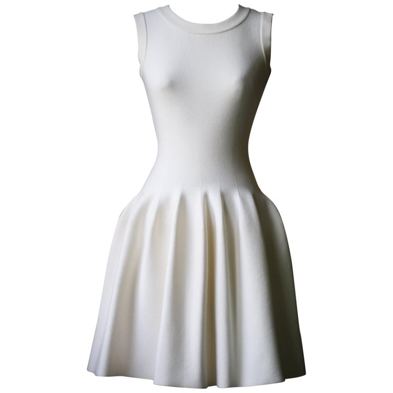 ffe4e636eef Azzedine Alaïa Stretch-Knit Mini Dress For Sale at 1stdibs