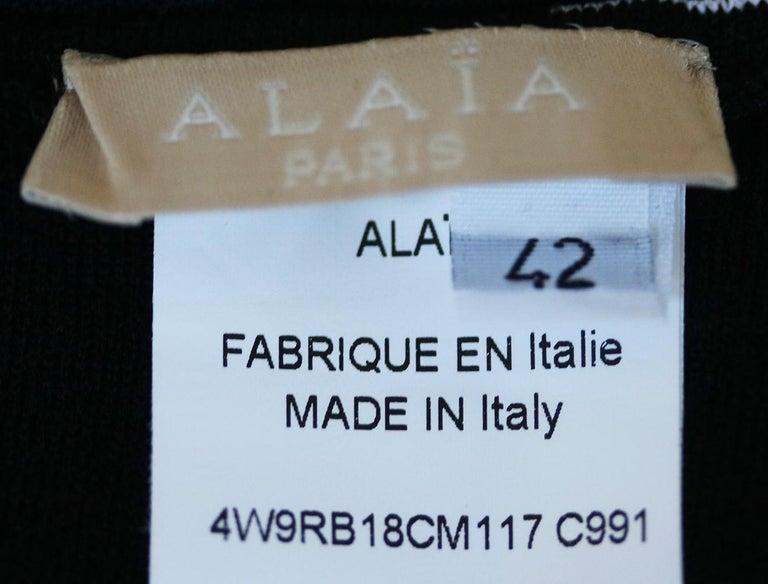 Women's Azzedine Alaïa Stretch-Knit Wool Flare Mini Dress For Sale