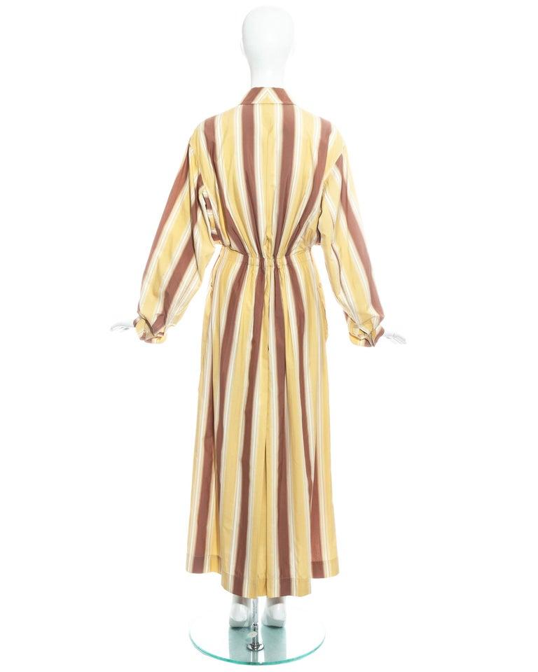 Azzedine Alaia striped cotton maxi shirt dress, ss 1992 For Sale 7