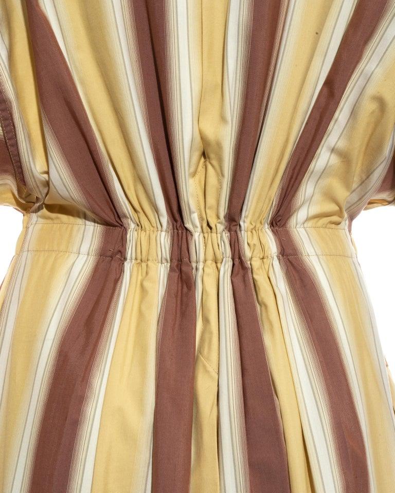 Azzedine Alaia striped cotton maxi shirt dress, ss 1992 For Sale 8