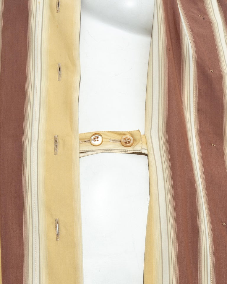 Azzedine Alaia striped cotton maxi shirt dress, ss 1992 For Sale 9