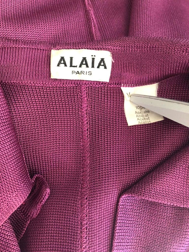 Azzedine Alaia Vintage Bodycon Maxi Dress For Sale 1