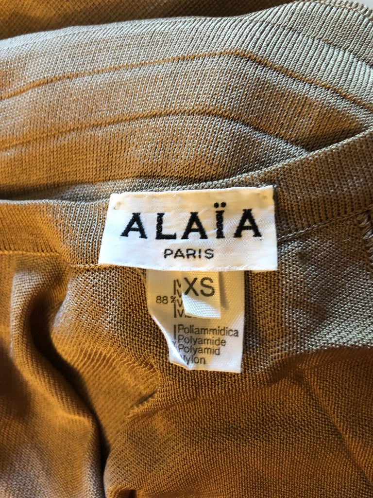 Azzedine Alaia Vintage Cutout Back Dress In Good Condition For Sale In Totowa, NJ