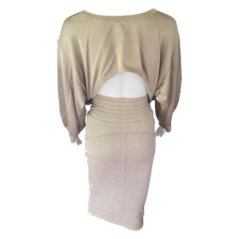 Azzedine Alaia Vintage Cutout Back Dress For Sale