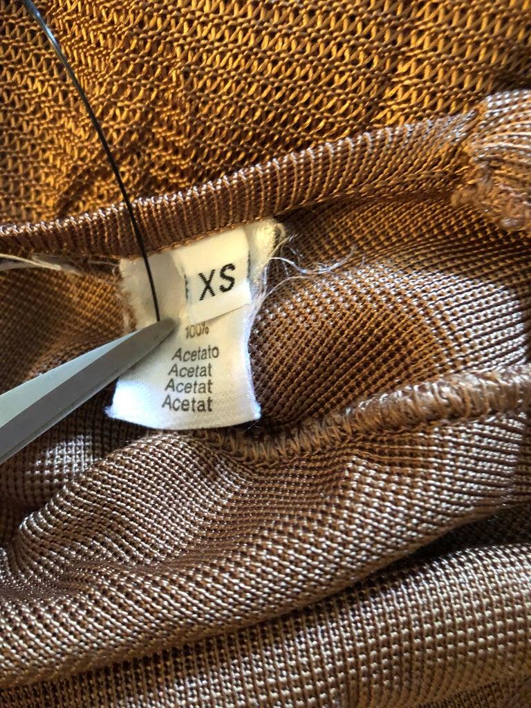 Brown Azzedine Alaia Vintage Open Back Dress For Sale