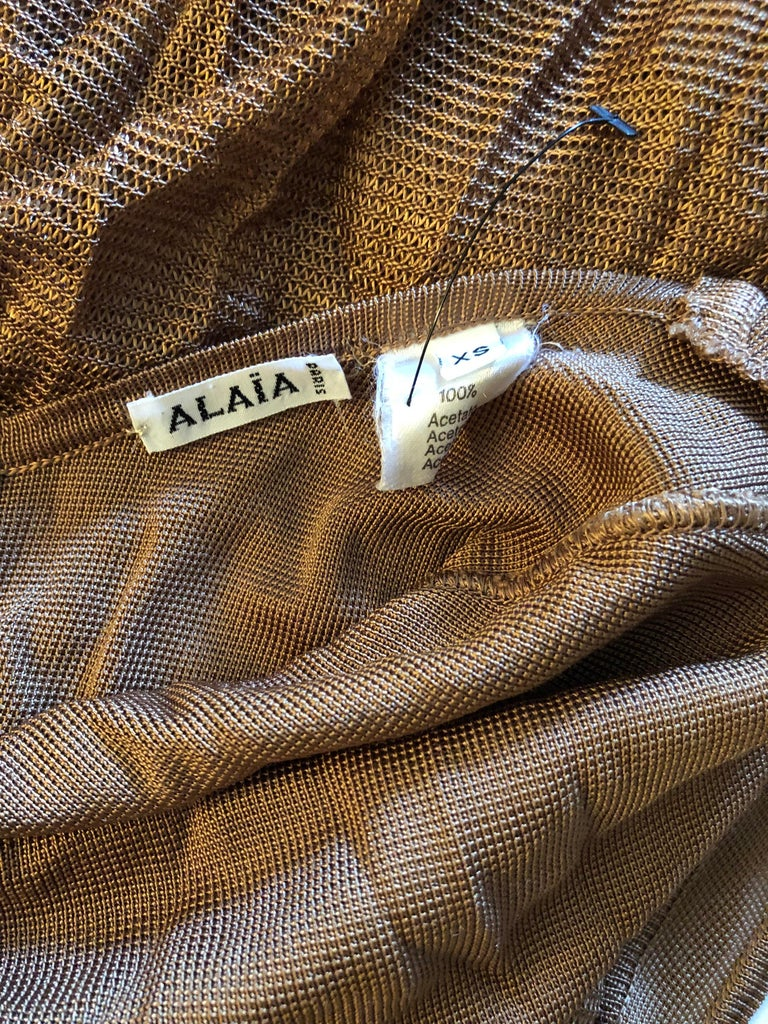 Azzedine Alaia Vintage Open Back Dress In Good Condition For Sale In Totowa, NJ