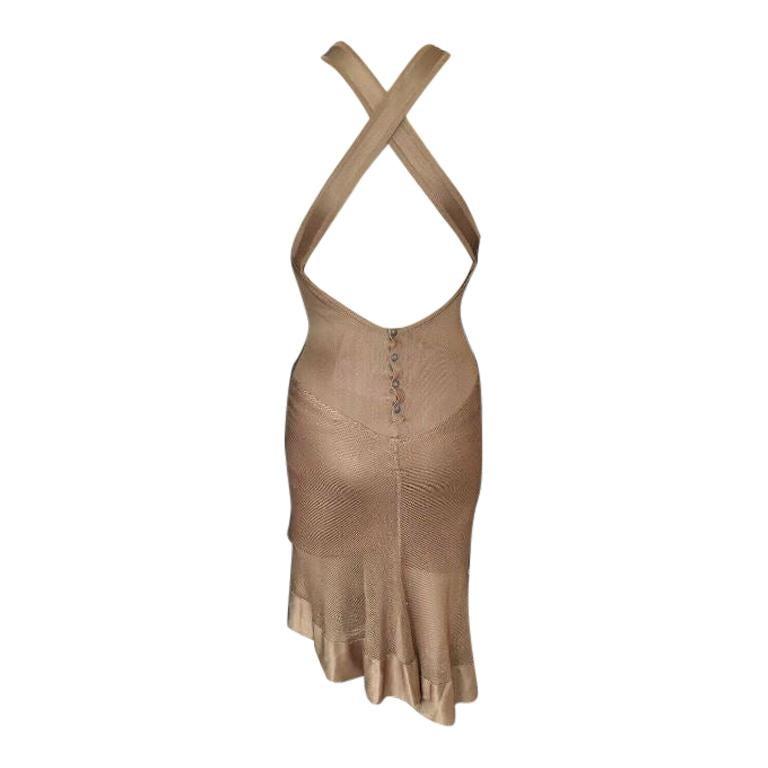 Azzedine Alaia Vintage Open Back Dress For Sale