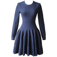 Azzedine Alaïa Wool-Blend Knitted Mini Dress