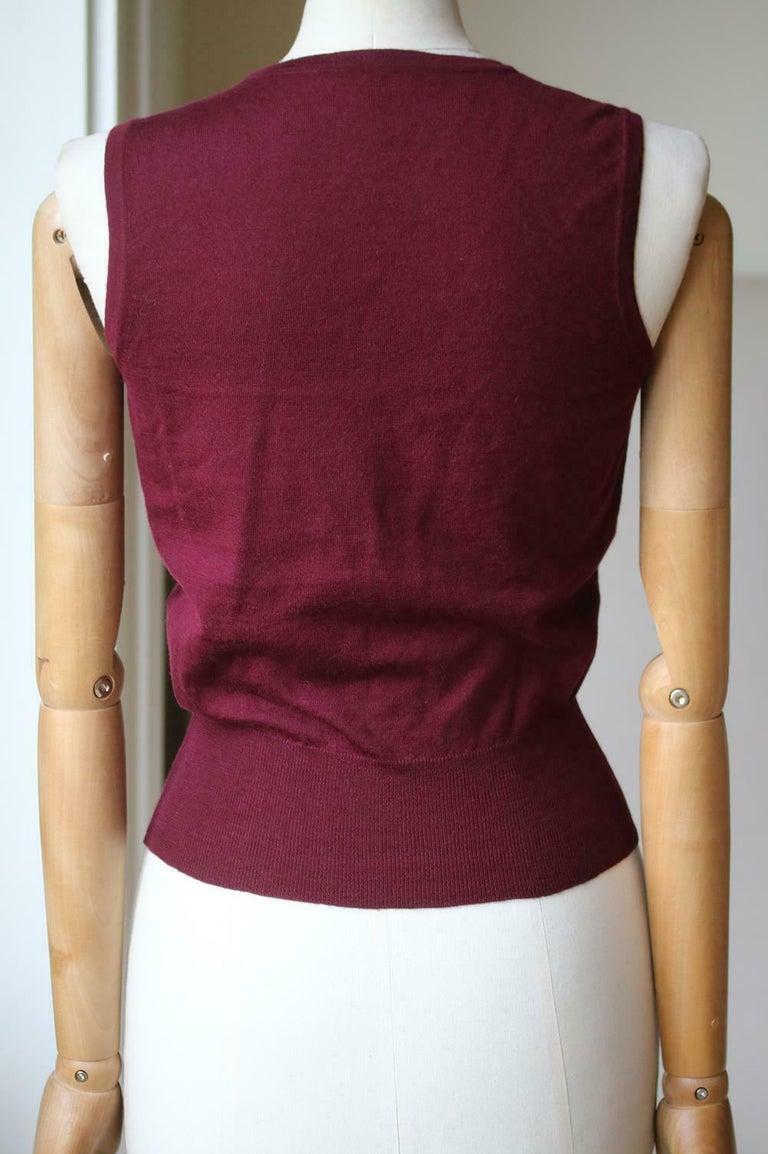 Women's Azzedine Alaïa Wool Stretch-Knit Twin Set For Sale