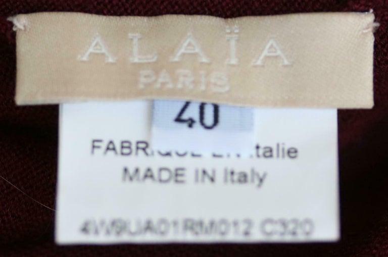 Azzedine Alaïa Wool Stretch-Knit Twin Set For Sale 1