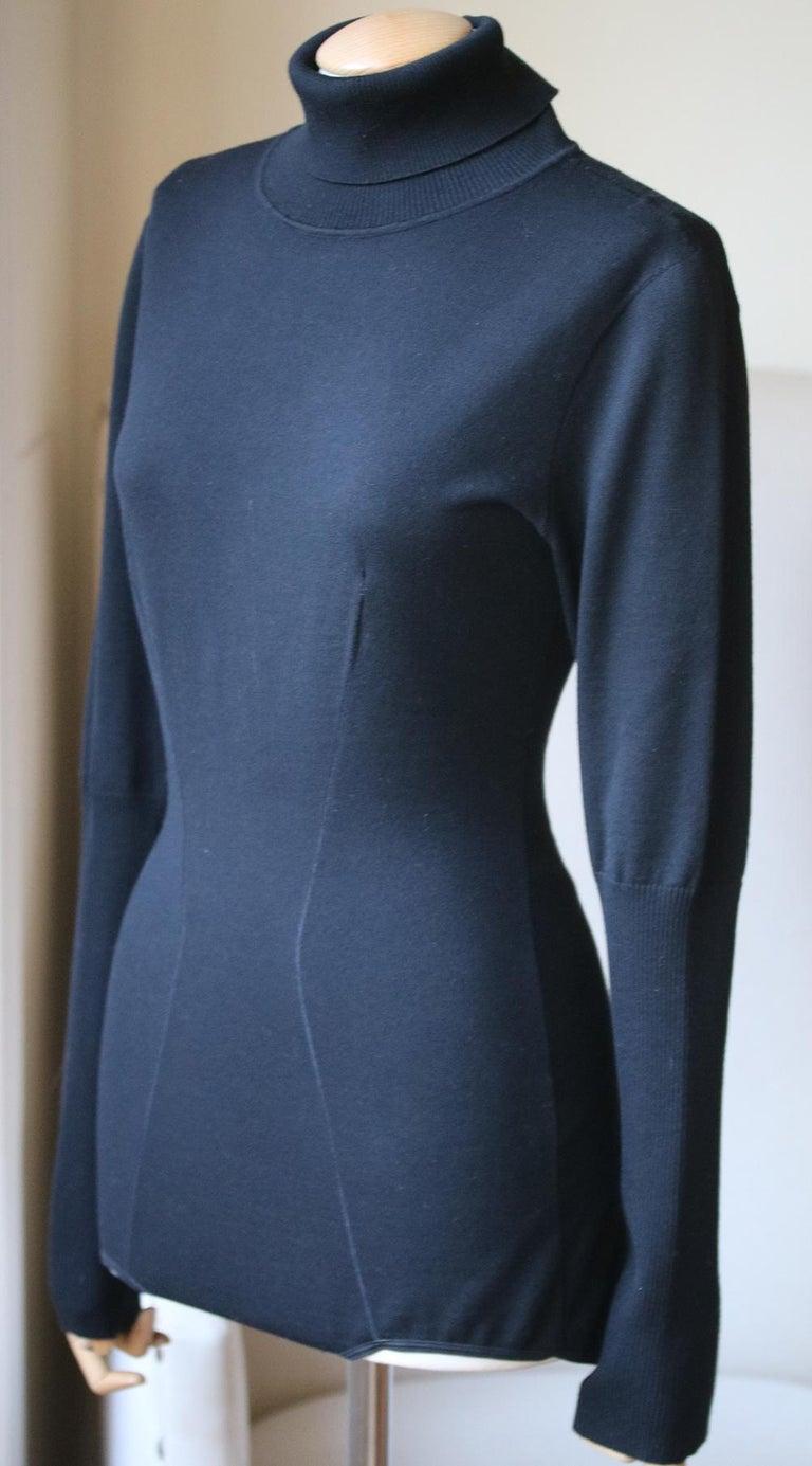 Black Azzedine Alaïa Wool Turtleneck Bodysuit For Sale