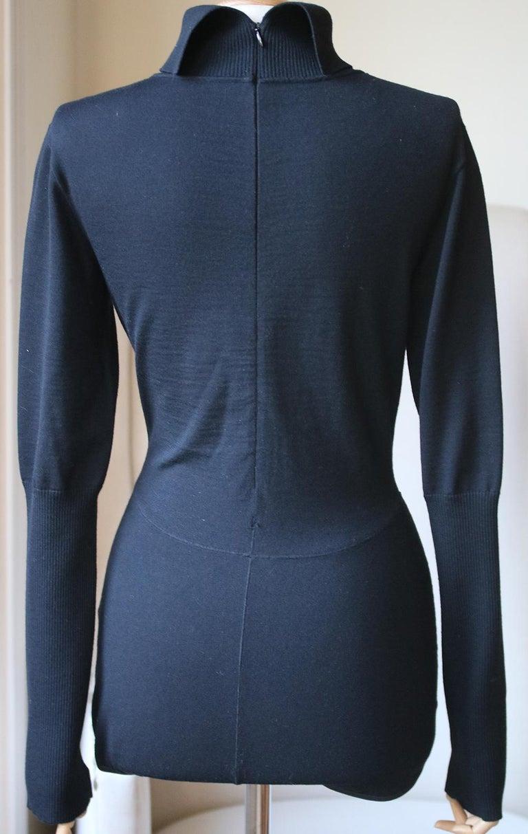 Azzedine Alaïa Wool Turtleneck Bodysuit In Excellent Condition For Sale In London, GB