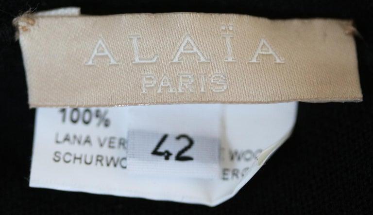 Women's Azzedine Alaïa Wool Turtleneck Bodysuit For Sale