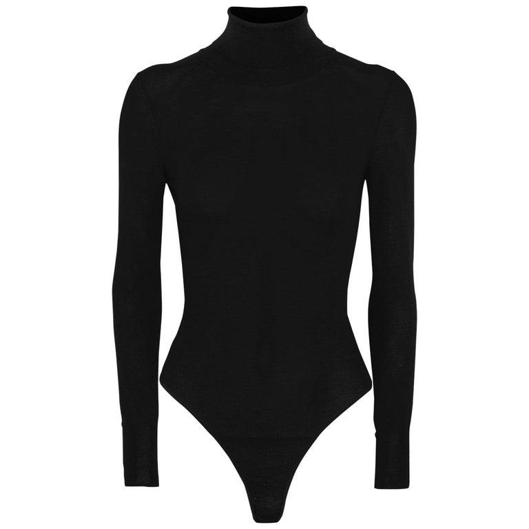 Azzedine Alaïa Wool Turtleneck Bodysuit For Sale