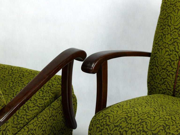 B-970 Lounge Chairs by Thonet, 1920s In Excellent Condition In Lucenec, SK