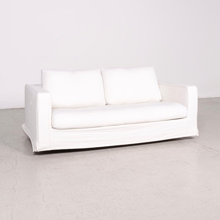 B and B Italia Baisity Designer Fabric Sofa White by Antonio ...