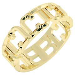 B Endless 14 Karat Yellow Gold Ring