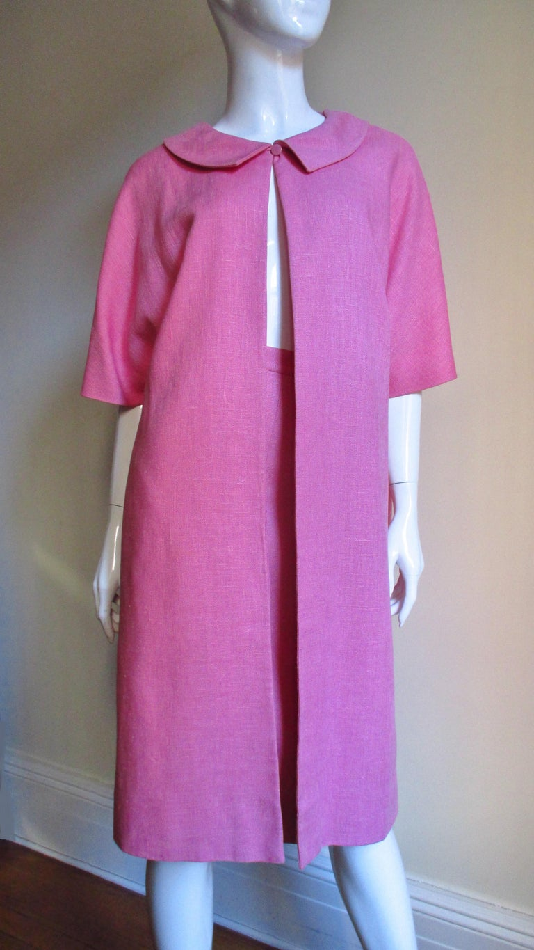 B H Wragge 1960s Linen Coat and Skirt For Sale 4